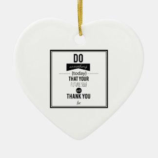 Do Something Decorative Typography Art Calligraphy Ceramic Heart Decoration