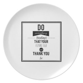 Do Something Decorative Typography Art Calligraphy Dinner Plates