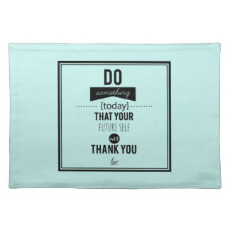 Do Something Decorative Typography Art Calligraphy Placemats