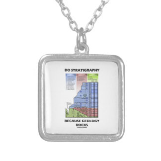 Do Stratigraphy Because Geology Rocks Grand Canyon Square Pendant Necklace