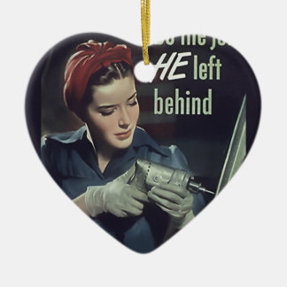 Do The Job He Left Behind WW II Poster 1942-1945 Christmas Ornaments