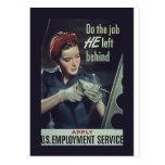 Do The Job He Left Behind ~ WW II Poster 1942-1945 Postcards