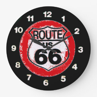 do the route 66 wall clock
