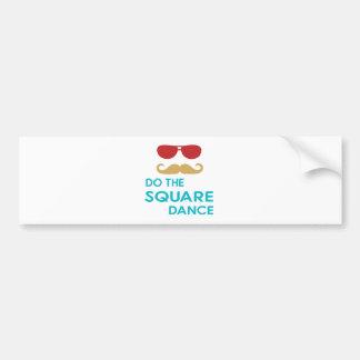 Do the Square Dance Bumper Sticker