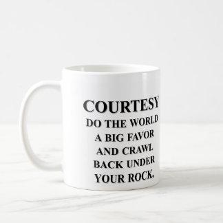 Do the world a favor; get back under your rock basic white mug