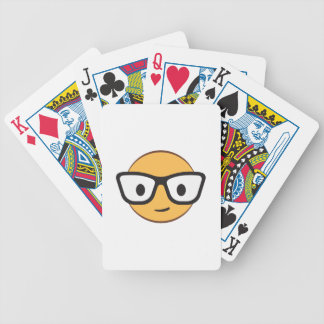 Do these glasses make me look happy? bicycle playing cards