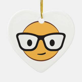 Do these glasses make me look happy? ceramic heart decoration