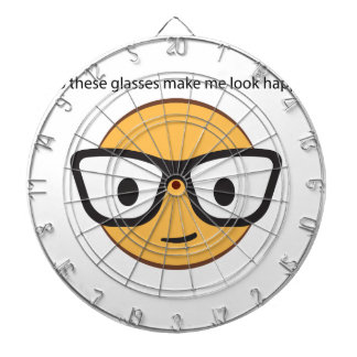 Do these glasses make me look happy? (yep!) dartboard