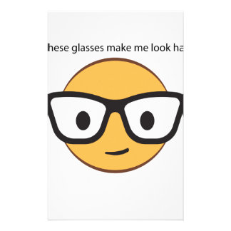 Do these glasses make me look happy? (yep!) stationery