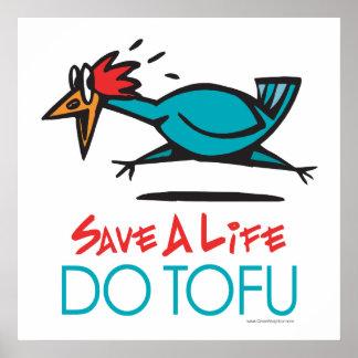 Do Tofu Vegan Vegetarian Poster