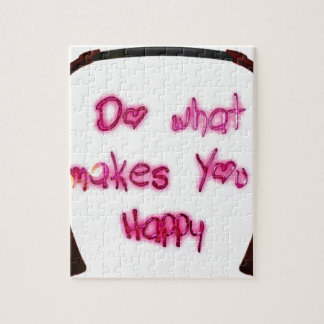 do what makes u happy jigsaw puzzle