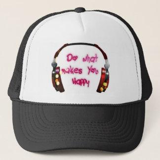 do what makes u happy trucker hat