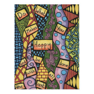 Do What Makes You Happy Postcard