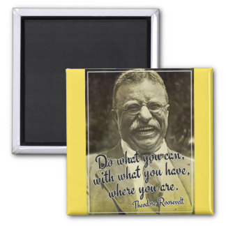 Do what you can... Theodore Roosevelt Quote Magnet