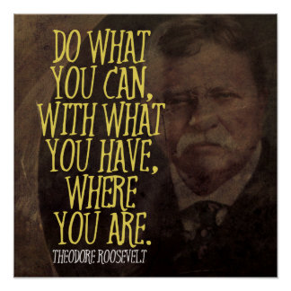 Do what you can... Theodore Roosevelt Quote Poster