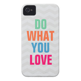 Do What You Love, chevron background iPhone 4/4s iPhone 4 Case-Mate Case