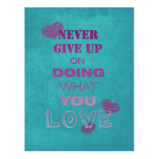 Do what you love motivational text typography post card