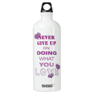Do what you love motivational text typography SIGG traveller 1.0L water bottle