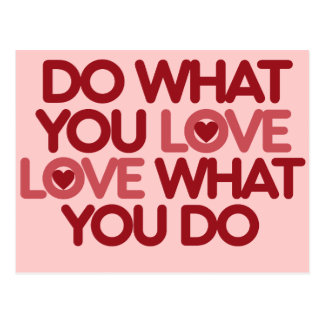 Do what you love post card