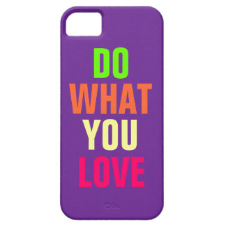Do What You Love, purple background iPhone 5 Barely There iPhone 5 Case