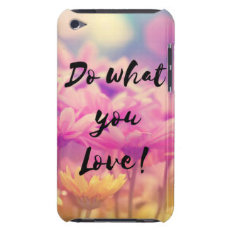 """Do what you Love"" Typography Quote Purple Flowers Barely There iPod Cover"