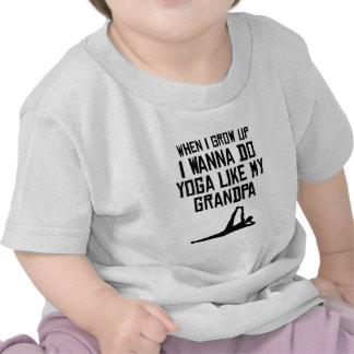 Do Yoga Like My Grandpa Tee Shirt