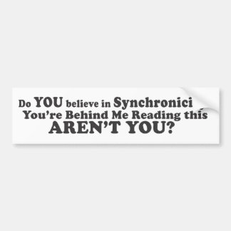 Do You Believe In Synchronicity? - Bumper Sticker