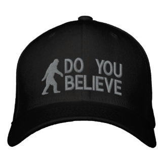 """Do you believe *large bigfoot logo"""" embroidered hat"""