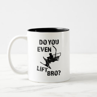 Do you even lift bro? funny men's ski mug