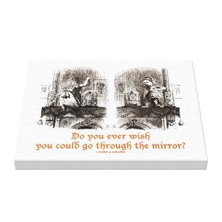 Do You Ever Wish Go Through Mirror? Wonderland Canvas Print