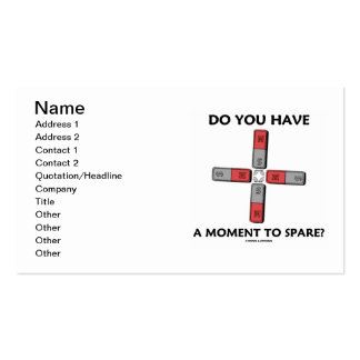 Do You Have A Moment To Spare? (Physics) Pack Of Standard Business Cards