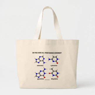 Do You Have All Your Bases Covered? (DNA Bases) Canvas Bags
