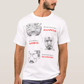 """""""Do you know about...discrimiNATION"""" t-shirt"""