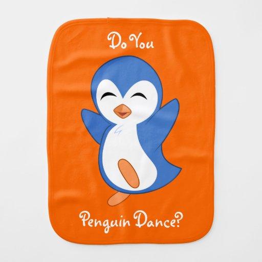 Do You Penguin Dance? Baby Burp Cloth