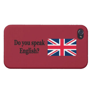 Do you speak English? in English. Flag bf Case For iPhone 4