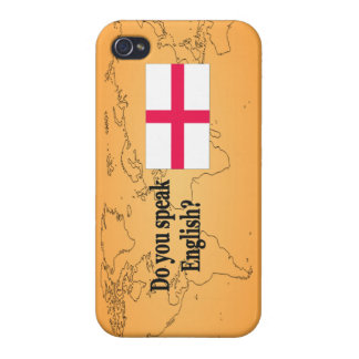 """""""Do you speak English?"""" in English. Flag bf iPhone 4 Case"""
