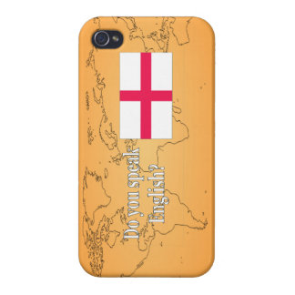 """""""Do you speak English?"""" in English. Flag wf Cover For iPhone 4"""