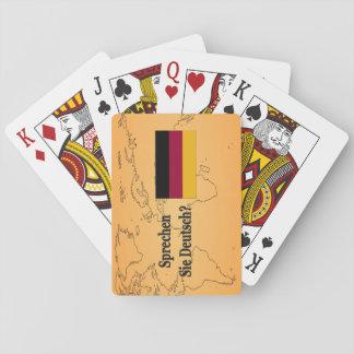 Do you speak German? in German. Flag bf Poker Deck