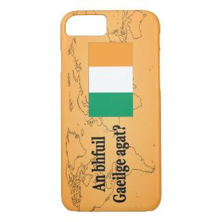 Do you speak Irish? in Irish. Flag bf iPhone 7 Case