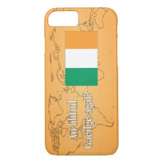 Do you speak Irish? in Irish. Flag wf iPhone 7 Case