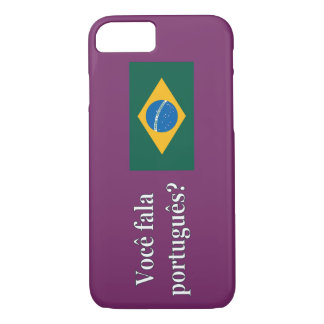 Do you speak Portuguese? in Portuguese. Flag wf iPhone 7 Case