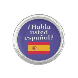 Do you speak Spanish? in Spanish. Flag