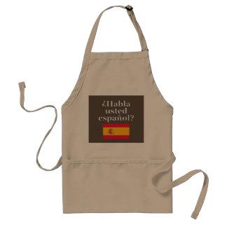Do you speak Spanish? in Spanish. Flag Adult Apron