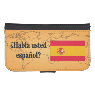 Do you speak Spanish? in Spanish. Flag bf