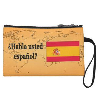 Do you speak Spanish? in Spanish. Flag bf Wristlet Clutches