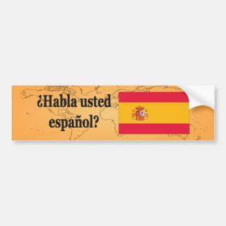 Do you speak Spanish? in Spanish. Flag bf Bumper Sticker