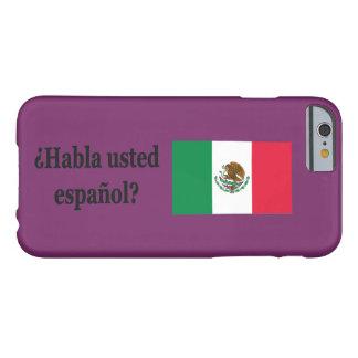 Do you speak Spanish? in Spanish. Flag bf iPhone 6 Case