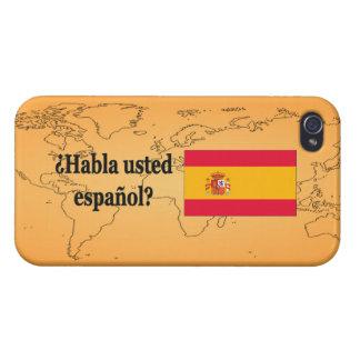 Do you speak Spanish? in Spanish. Flag bf iPhone 4 Case