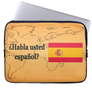 Do you speak Spanish? in Spanish. Flag bf Laptop Sleeve