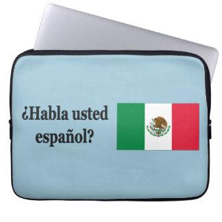 Do you speak Spanish? in Spanish. Flag bf Computer Sleeves